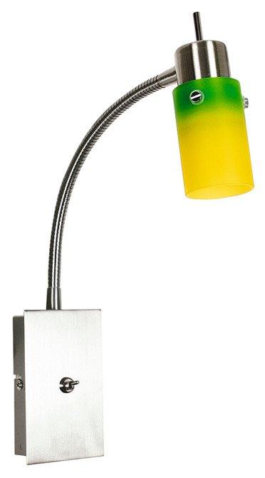 Kinkiet żółto-zielony lampa na wysięgniku Verdi 91-85538