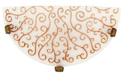 LAMPA ŚCIENNA CANDELLUX WYPRZEDAŻ 11-04850 OLEANDER PLAFON1/2  BRAZ 1X60W E27