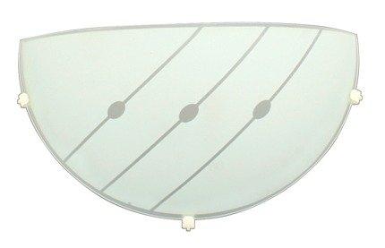 LAMPA ŚCIENNA CANDELLUX WYPRZEDAŻ 11-73740 MELODY PLAFON1/2 E-27  1X60W  BIAŁY