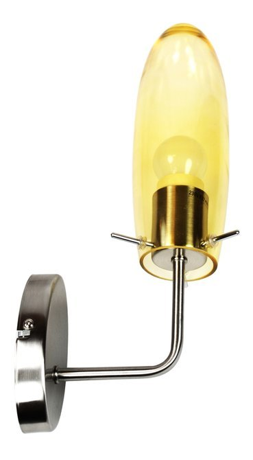 LAMPA ŚCIENNA CANDELLUX WYPRZEDAŻ 21-10806 MELOT KINKIET 1X60W E27 NIKIEL MAT Z KLOSZEM