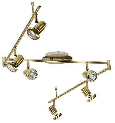 LAMPA SUFITOWA CANDELLUX 96-83428 LOTOS LISTWA 6*50W GU10 PATYNA