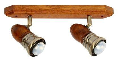 LAMPA SUFITOWA CANDELLUX WYPRZEDAŻ 92-74129 PARTEO LISTWA 2X40W E14 R50 CIEM DR PATYN METAL