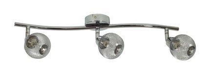 LAMPA SUFITOWA CANDELLUX WYPRZEDAŻ 93-06974 NOVEL LISTWA 3X40W G9 CHROM