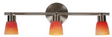 LAMPA SUFITOWA CANDELLUX WYPRZEDAŻ 93-07387 DROPS LISTWA 3*40W G9 NIKIEL MAT RAINBOW