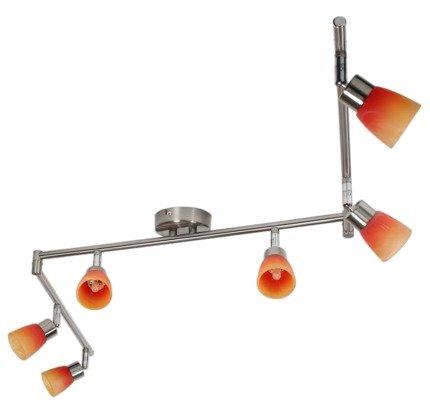 LAMPA SUFITOWA CANDELLUX WYPRZEDAŻ 96-07417 DROPS LISTWA 6*40W G9 NIKIEL MAT RAINBOW