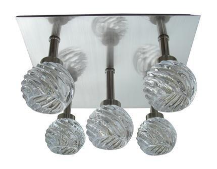 Lampa sufitowa plafon 5x40W G9 satyna kryształ Gira Candellux 95-23219