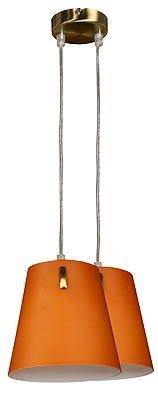Lampa wisząca patynowa szklany klosz 2x40W E14 Muscat Candellux 32-03648