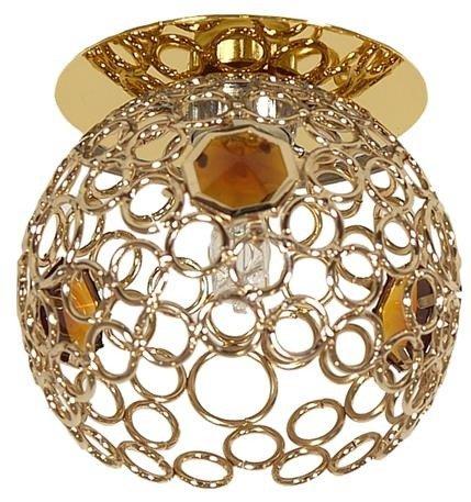 Oprawa stropowa ażurowa złota z kryształkami SK-74 Candellux 2205144