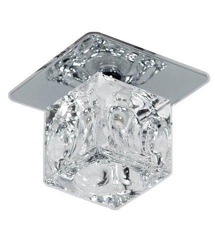 Oprawa stropowa chrom kwadrat kryształowa 20W G4 SK-12 Candellux 2264103
