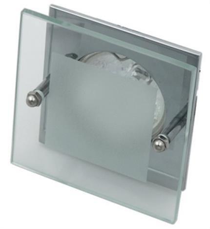 Oprawa stropowa chrom kwadrat szkło SZ-04 2219103