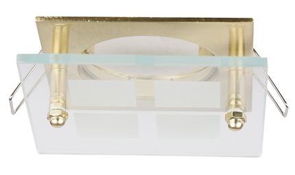 Oprawa stropowa złota kwadrat szkło SZ-03 2218804