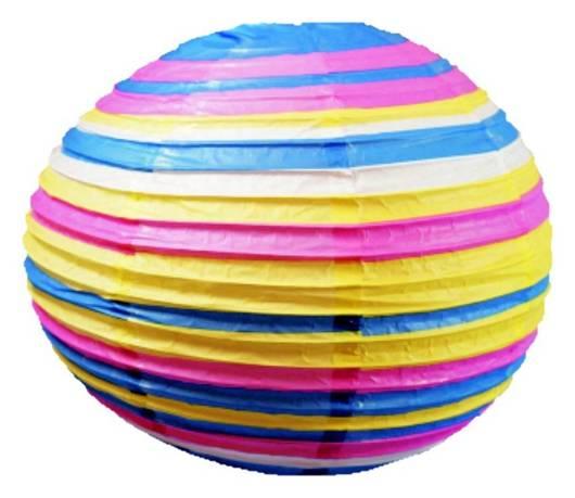 Kula papierowa niebiesko-różowa abażur 50cm Kokon Candellux 31-16051