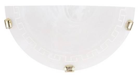 LAMPA ŚCIENNA CANDELLUX WYPRZEDAŻ 11-93106 010 PR PLAFON1/2 GRECKI BI/BI 60W