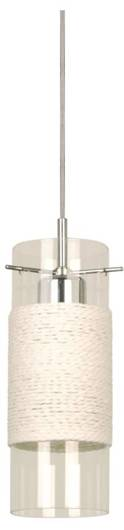 LAMPA SUFITOWA CANDELLUX WYPRZEDAŻ 31-27818 WRING ZWIS 1X60W E27 CHROM TARNSPARENT / BIAŁY