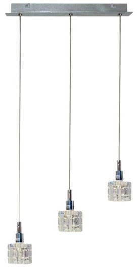 LAMPA SUFITOWA CANDELLUX WYPRZEDAŻ 33-05939 RUBIK ZWIS 3X40 G9 CHROM+KRYSZTAŁ