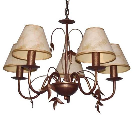 LAMPA SUFITOWA CANDELLUX WYPRZEDAŻ 35-11926 HARRY ZWIS 5X40W E14 GOLD BRUSH