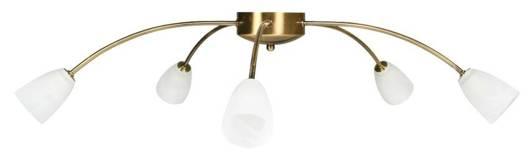 LAMPA SUFITOWA CANDELLUX WYPRZEDAŻ 35-84364 PARMA PLAFON 5*40W G9 ZŁOTO PATYNA