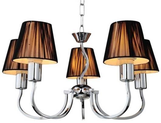 LAMPA SUFITOWA CANDELLUX WYPRZEDAŻ 35-94318 BOSTON ZWIS 5X60W E27 CZARNY