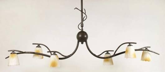 LAMPA SUFITOWA CANDELLUX WYPRZEDAŻ 36-84838 L&H MIKADO PLAFON 6*40W G9 PATYNA