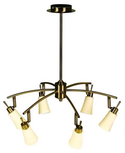 LAMPA SUFITOWA CANDELLUX WYPRZEDAŻ 36-87044 KROTON ZWIS 6X40W G9 PATYNA