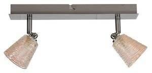 LAMPA SUFITOWA CANDELLUX WYPRZEDAŻ 92-02788 L&H MURANO LISTWA 2X40W G9 CHROM