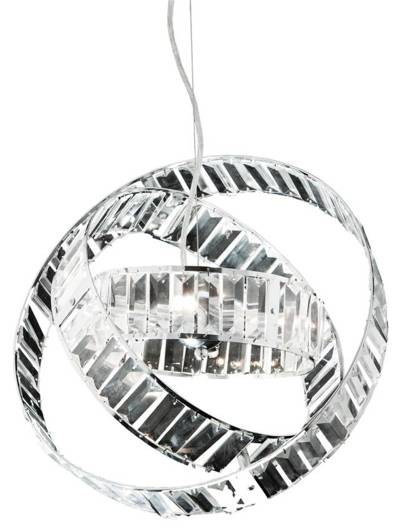 Lampa wisząca regulowane pierścienie kryształy 40W Saturn Candellux 34-87273
