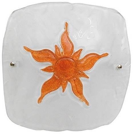 Plafon biały/brązowy szklany lampa Sun 13-88621