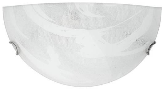 Plafon szklany szaro-biały lampa ścienna 60W E27 Lunar Candellux 11-95148