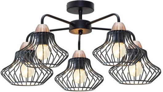 lampa sufitowa wisząca 5x60W E27 czarny 35-67050